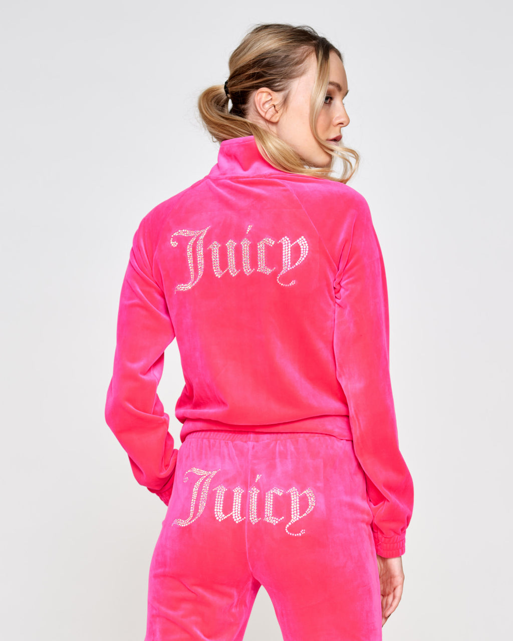 Tanya Diamante Track Top Pink Glo - Juicy Couture Scandinavia