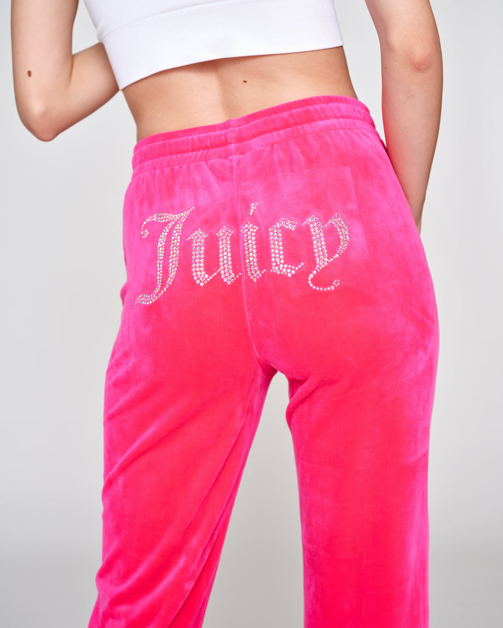 Tina Diamante Velour Pant Pink Glo - Juicy Couture Scandinavia