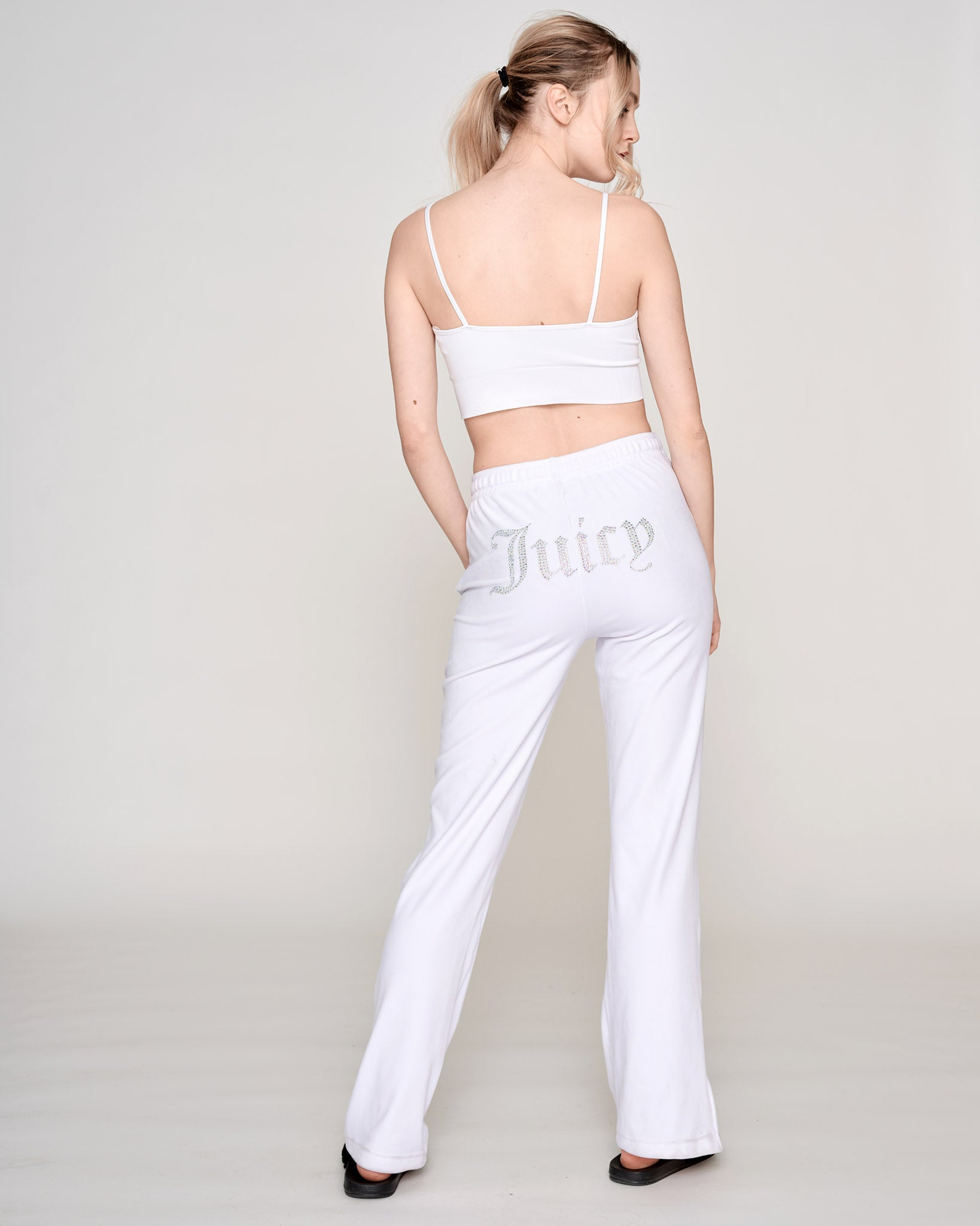 Tina Diamante Velour Pant White - Juicy Couture Scandinavia