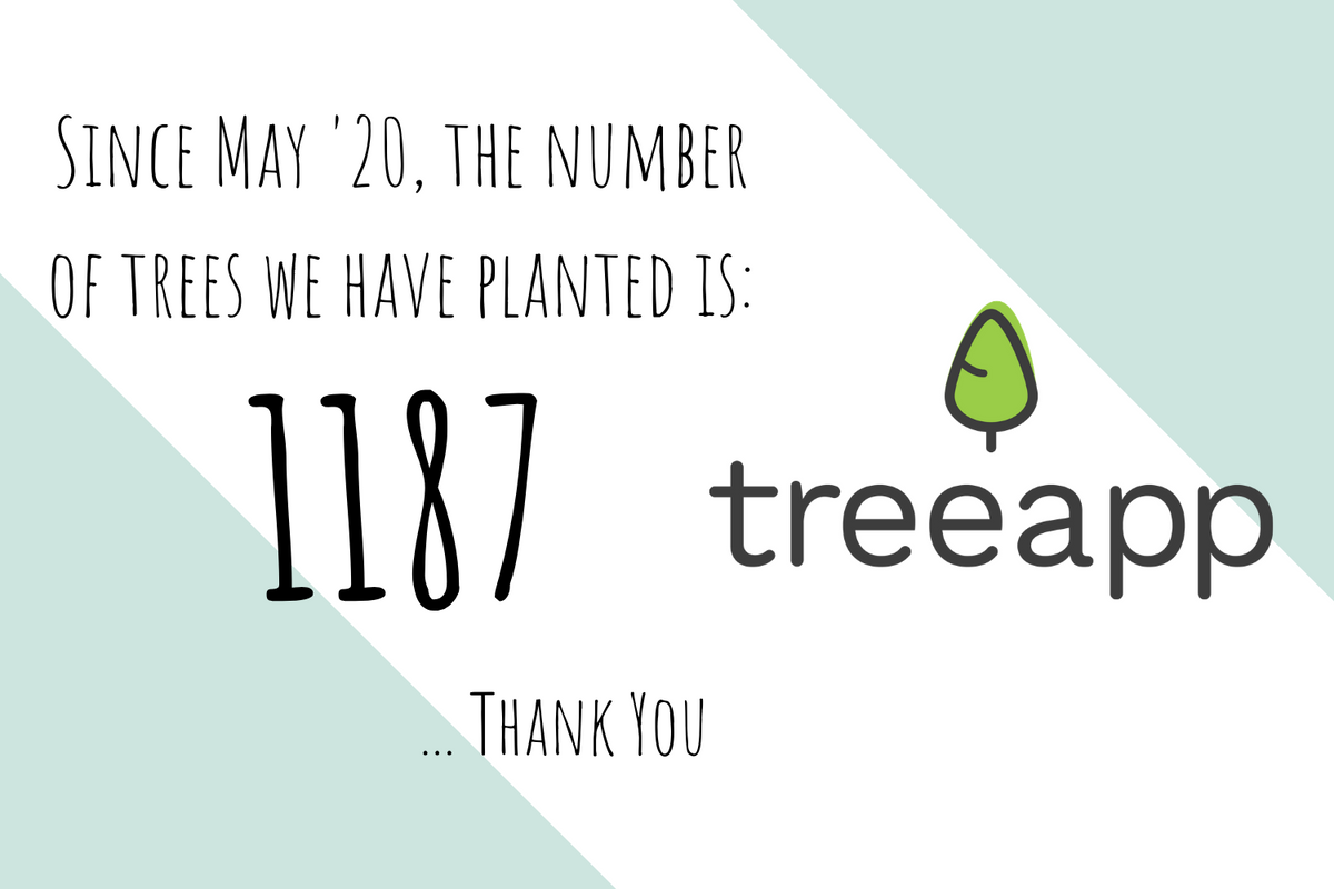 Plant trees with TreeApp - plastic free shop - green pear eco