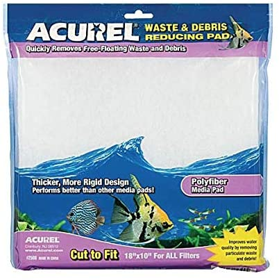 Acurel Poly Fiber Media Pad for Aquariums 10 X 18in Cut to Fit