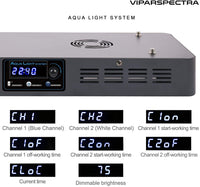 VIPARSPECTRA Timer Control Dimmable 300W LED Aquarium Light Full Spectrum for Grow Coral Reef Marine Fish Tank LPS/SPS