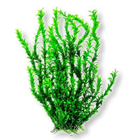 "Light Green Small Leaf 26"" Aquarium Plant w/ Weighted Base"