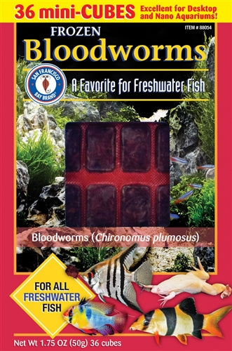San Fransisco Bay Brand Frozen Bloodworms (multiple sizes)