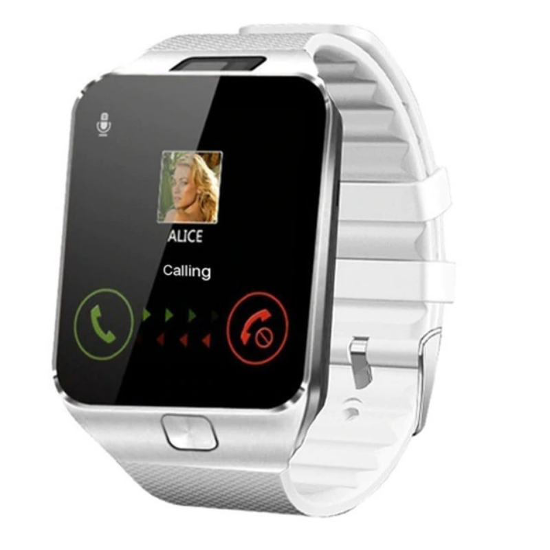 WHITE Multifunctional Smartwatch with Camera and Bluetooth