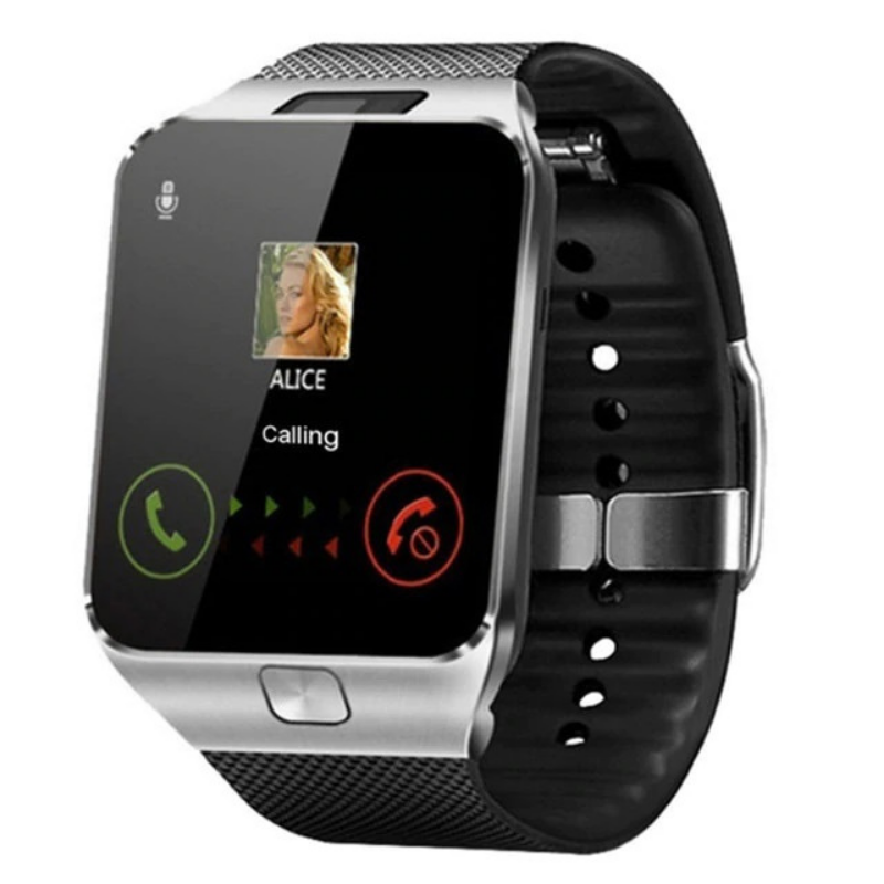 SILVER Multifunctional Smartwatch with Camera and Bluetooth
