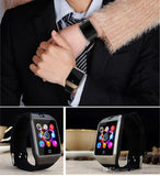 Bluetooth Smartwatch Wristwatch with Camera TF SIM Card Slot