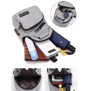 PROMO BUY 1 GET 3 total of Commuters USB Port built in Bag! ( Khakii)
