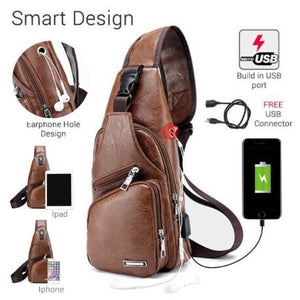 PROMO BUY 1 GET 3 total of Commuters USB Port built in Bag! ( Leather)
