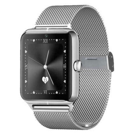 Sterling Metal Smartwatch  with Camera Bluetooth TF/SIM Card