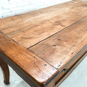 Antique French Country Natural Chestnut Workstation