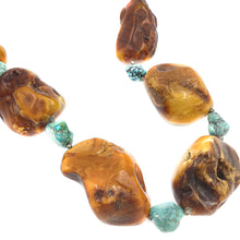 Load image into Gallery viewer, Eclectic Silver Baltic Amber Collar Necklace