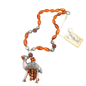 Ruth Frank Silver Carnelian Vintage Pendant Necklace