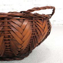 Load image into Gallery viewer, Vintage Japanese Woven Bamboo Basket