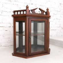 Load image into Gallery viewer, Antique Traditional Wood Curio Cabinet