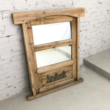 Load image into Gallery viewer, Rustic Wood Mirror