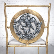 Load image into Gallery viewer, New Contemporary Gilt Iron Accent Chair