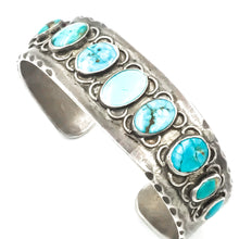 Load image into Gallery viewer, Vintage Sterling Native American Turquoise Cuff