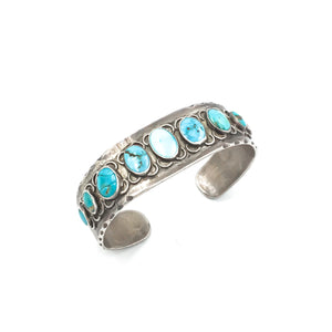 Vintage Sterling Native American Turquoise Cuff