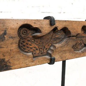 Antique Asian Carved Wood Table Top Object