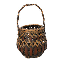 Load image into Gallery viewer, Antique Japanese Woven Bamboo Basket