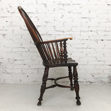 Load image into Gallery viewer, Antique Early American Yew Wood Accent Chair