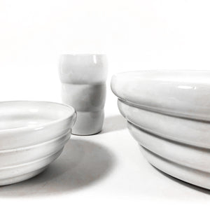 Contemporary Multiple Pieces Gather & Serve Glazed Ceramic Dinnerware