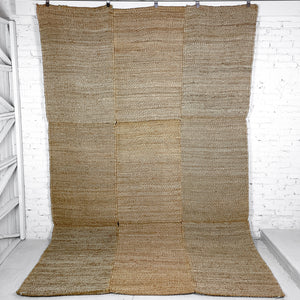 Hand Woven Natural Fiber Contemporary Natural Jute Rug