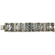 Load image into Gallery viewer, Vintage Plateria Farfan Sterling Mexican Bracelet