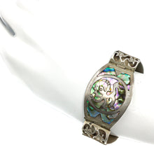 Load image into Gallery viewer, Vintage Los Ballesteros Mexican Sterling Abalone Bracelet