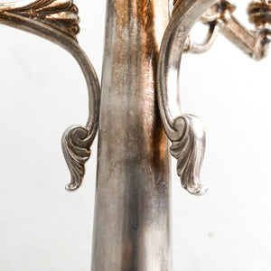 Set of 2 Victorian Silver Plated Pryor Tyzack Candleholder
