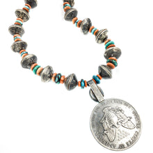 Load image into Gallery viewer, Betty Yellowhorse Navajo Sterling Native American Pendant Necklace