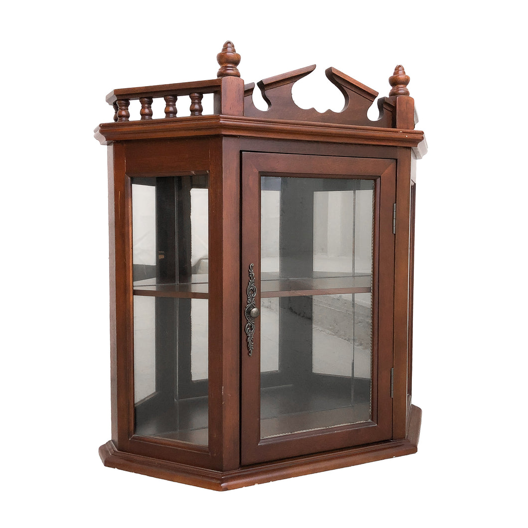 Antique Traditional Wood Curio Cabinet