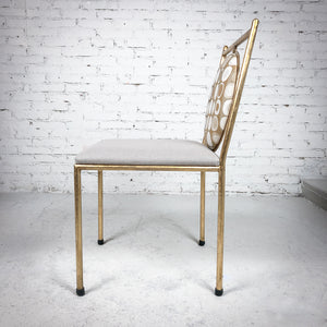 New Contemporary Gilt Iron Accent Chair
