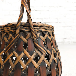Antique Japanese Woven Bamboo Basket