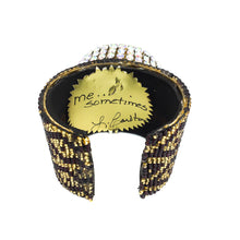 Load image into Gallery viewer, Lynn Carlton Novelty Mixed Metals Rhinestone Cuff