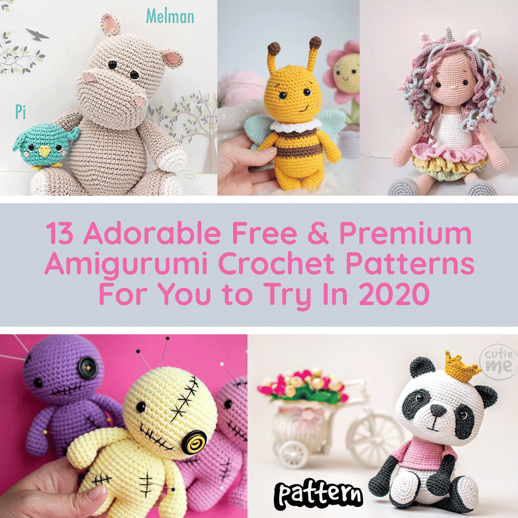 13 Adorable Free & Premium Amigurumi Crochet Patterns For You to Try In 2020