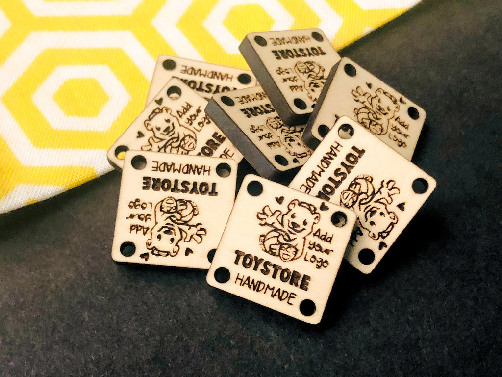 Small Square Customizable Product Tags