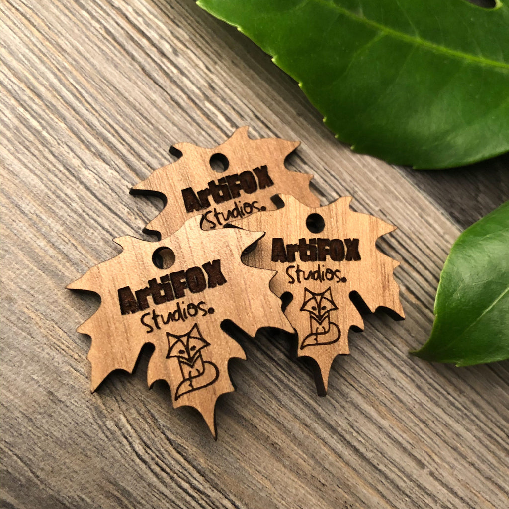 Leaf Shaped Customized Wooden Product Tag