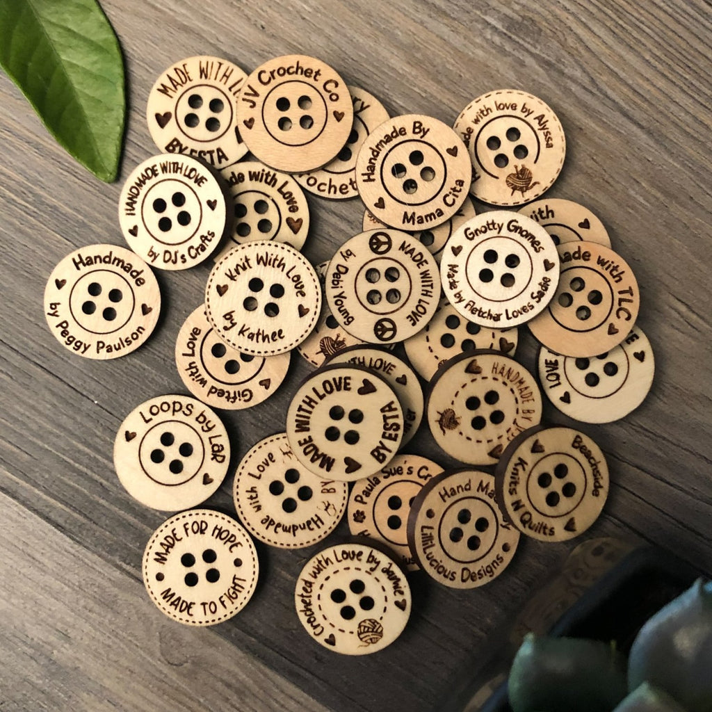 Customizable 19mm 4-Hole Button