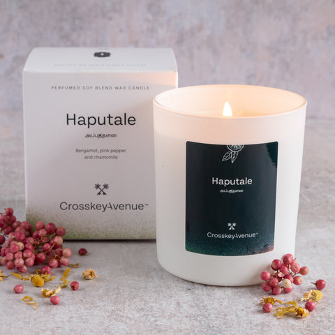Haputale by Crosskey Avenue scented candle alight