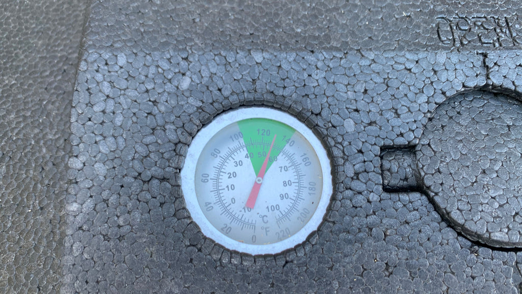 Hot composter thermometer gauge