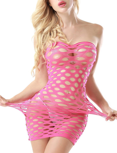 Hole in My Heart Hot Pink Chemise