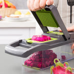 Multi-functional Vegetable Diced Set Diced Potato Fruit Shred Slicer Cutter Grater Household 7-in-1 Kitchen Gadgets Grater Tool