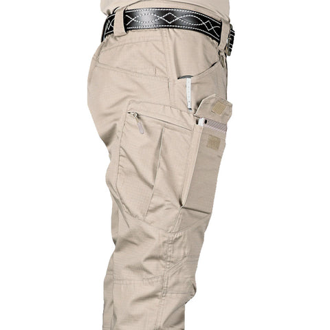 New Mens Tactical Pants Multiple Pocket Elasticity Military Urban Commuter Tacitcal Trousers Men Slim Fat Cargo Pant 5XL