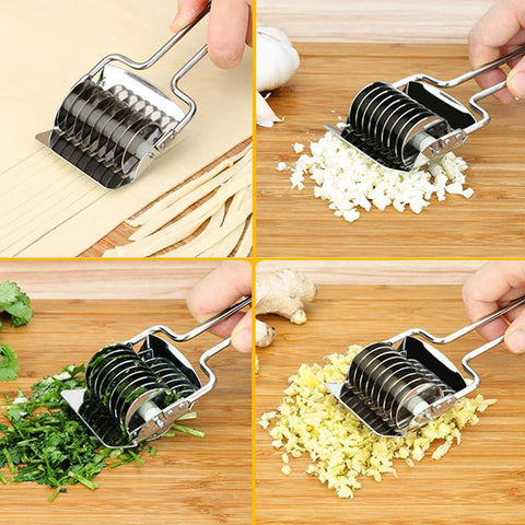 1Pcs  16.8*7.4cm  Kitchen Accessories Gadgets Stainless Steel Onion Chopper Slicer Garlic Coriander Cutter Cooking Tools