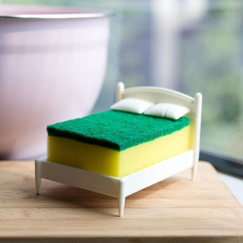 Creative Hot  Bed Shape Scouring Pad  Sponge Holder Storage Rack for Kitchen Toilet Bathroom Kitchen Accessories Free Shipping