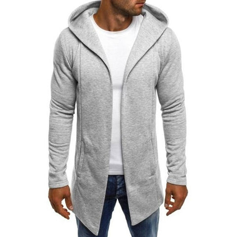 Plus Size Hoodie Men Autumn Winter 2019 Streetwear Casual Long Sleeve Hooded Cardigan Hoodies For Men Sweatshirts sudadera hombr