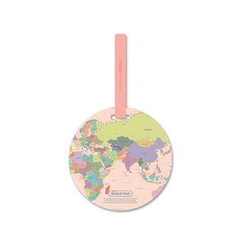 Fashion Map Luggage Tags Women Travel Accessories Suitcase ID Address Holder Baggage Boarding Tag Travel Bag Portable Label