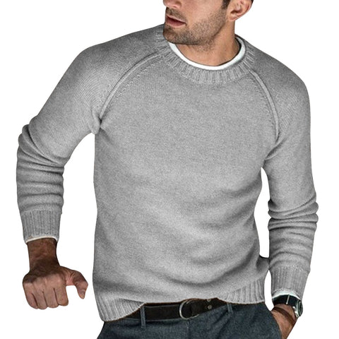 Autumn Modish Men Knitted Sweaters O Neck Pull Knitwear Winter Warm Clothes Casual Jumper Solid Pullovers Slim Sweater Homme